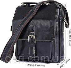 Сумка чоловіча Vintage 14458 Чорна, Чорний, фото 3