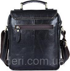 Сумка чоловіча Vintage 14458 Чорна, Чорний, фото 2