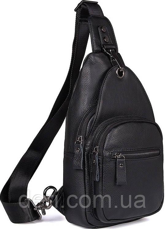 Сумка чоловіча Vintage 14468 Чорна, Чорний