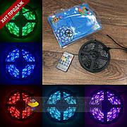Светодиодная RGB LED 5050 лента с пультом 12 220 вольт ргб диодная подсветка 12в 12v лед светодиодные полоск