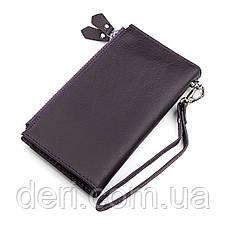 Кошелек женский ST Leather кожаный фиолетовый, фото 2