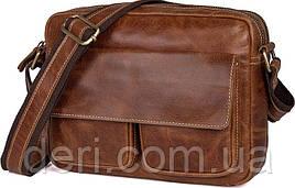 Сумка мужская Vintage 14583 кожаная Рыжая, Рыжий