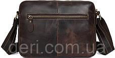 Сумка чоловіча Vintage 14584 Коричнева шкіряна, Коричневий, фото 3