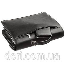 Портфель мужской KARYA 17268 кожаный Черный флотар, Черный, фото 3