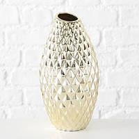 Ваза Хадди керамика золото h30 d16см 1013345