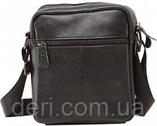 Сумка мужская Vintage 14621 кожаная Черная, Черный, фото 2