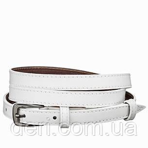 Пояс кожаный MAYBIK 15244 Белый, Белый, фото 2