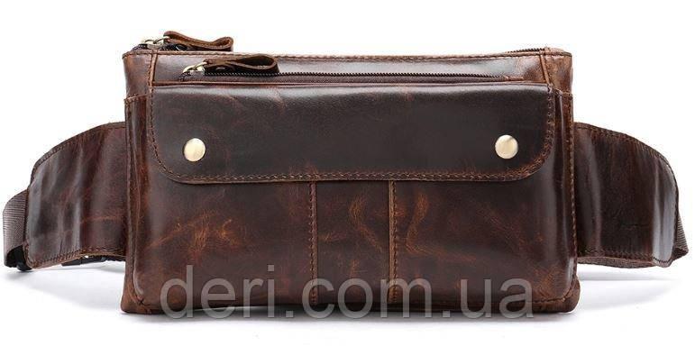 Поясна сумка чоловіча Vintage 14815 Коричневий, Коричневий