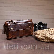 Поясна сумка чоловіча Vintage 14815 Коричневий, Коричневий, фото 2