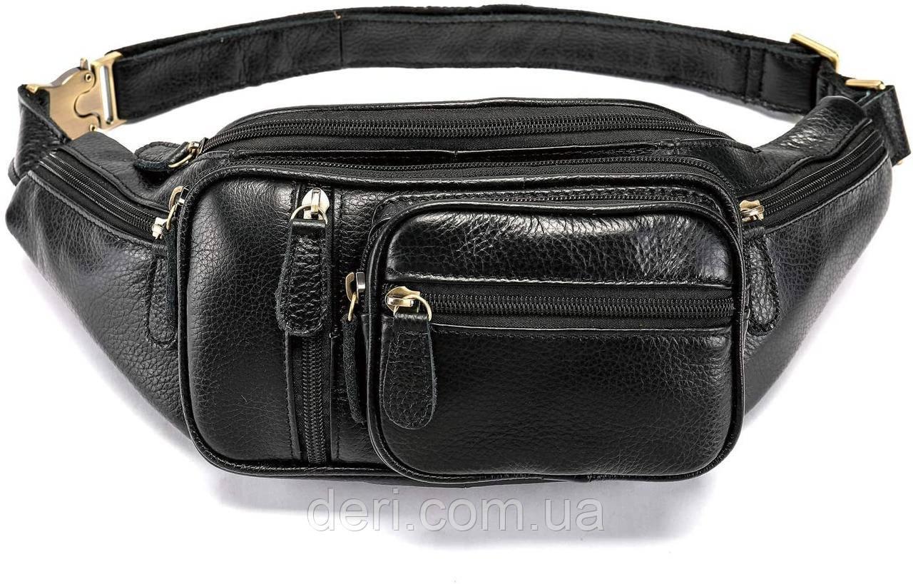 Поясна сумка чоловіча Vintage 14817 Чорна, Чорний