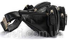 Поясна сумка чоловіча Vintage 14817 Чорна, Чорний, фото 3