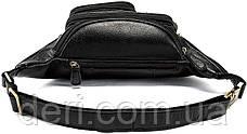 Поясна сумка чоловіча Vintage 14817 Чорна, Чорний, фото 2