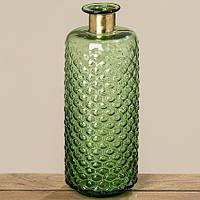 Ваза Stratos зеленое стекло h39см 8079900