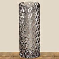 Ваза Lykke серое лакированное стекло h30см 1004102
