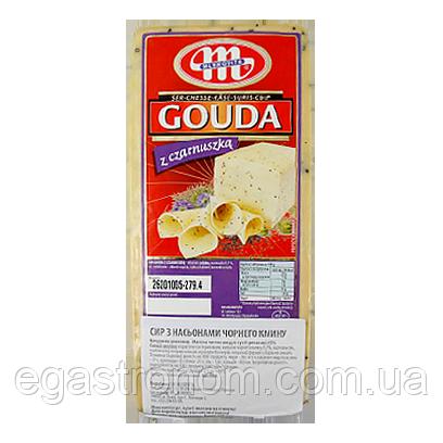 Сир Гауда Млековіта з кмином Mlekovita Gouda z czarnuszka 3kg (Код : 00-00005406)