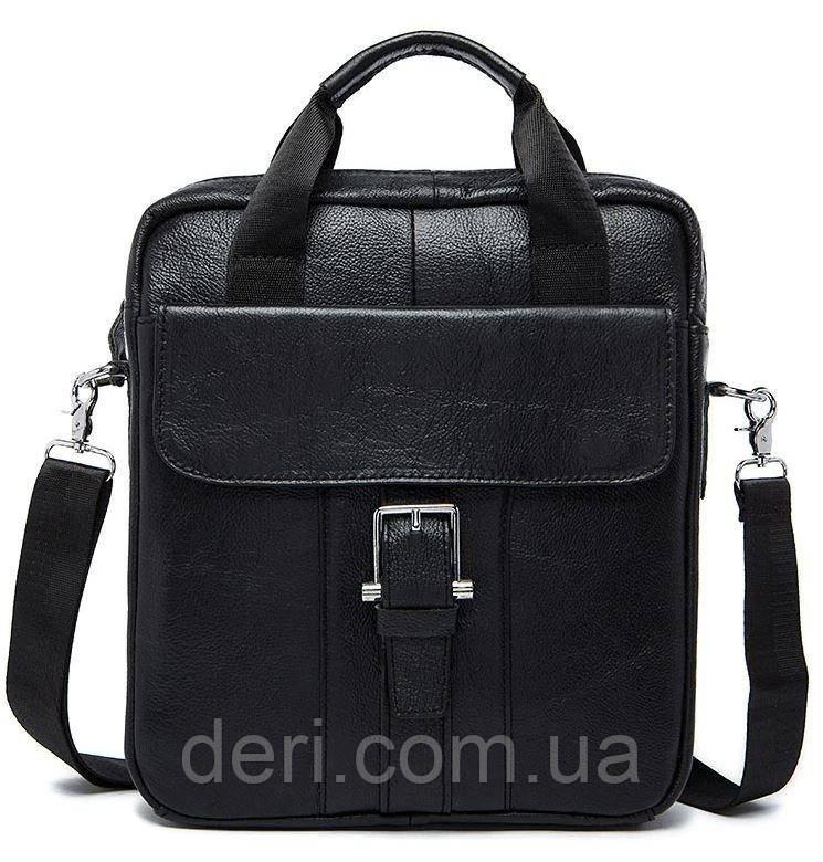 Сумка чоловіча Vintage 14674 Чорна, Чорний