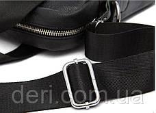 Сумка чоловіча Vintage 14674 Чорна, Чорний, фото 3
