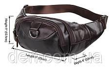 Поясна сумка Vintage 14236 Коричнева шкіряна, Коричневий, фото 2