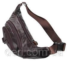 Поясна сумка Vintage 14236 Коричнева шкіряна, Коричневий, фото 3