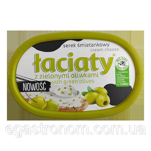 Крем-сир Лаціата з оливками Łaciaty 135g 12шт/ящ (Код : 00-00003555)