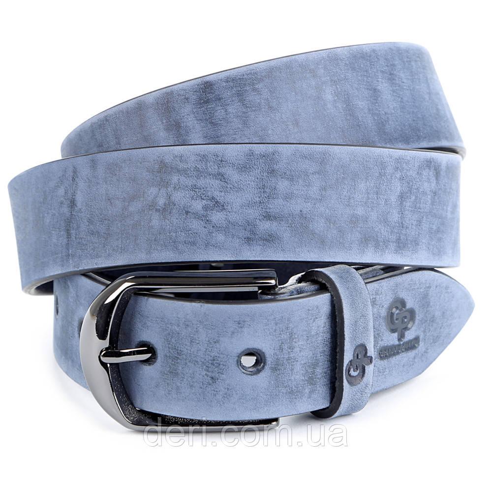 Ремінь GRANDE PELLE 00972 шкіра Синій, Синій