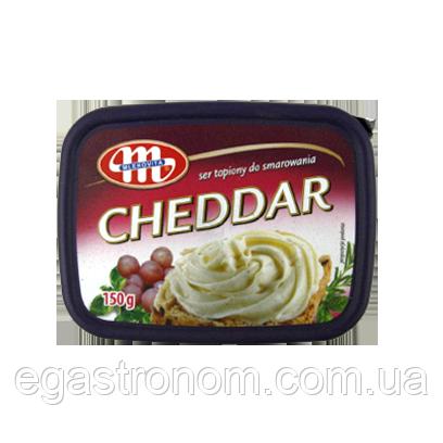 Крем-сир Млековіта чедер Mlekovita cheddar 150g 12шт/ящ (Код : 00-00005124)