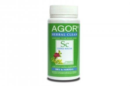 Скраб-маска очищающая для сухой и нормальной кожи, Agor, 50 г