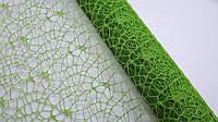 Ажурная сетка зеленая на метраж, лист 0,5*0,5 м, фото 1