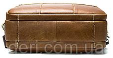 Сумка чоловіча горизонтальна зі шкіри Vintage 20005 Рудий, Рудий, фото 3