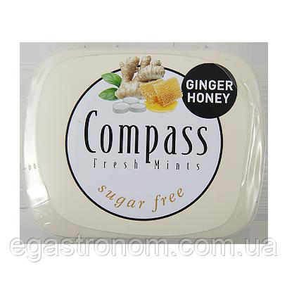 Льодяники Компас імбир-мед Compass ginger-honey 14g 12шт/ящ (Код : 00-00005461)