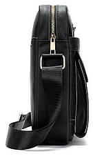 Сумка мужская кожаная Vintage 14827 Черная, Черный, фото 3