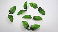 Искусственные листья розы боковые 2-ка 1уп-50шт(зеленые)., фото 1