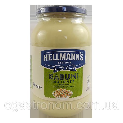 Майонез Хеллманс Бабуні hellmann's Babuni 650g 6 шт/ящ (Код : 00-00002979)