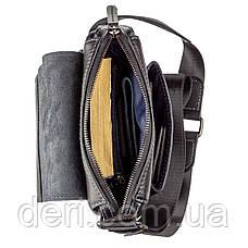 Сумка мужская комбо SHVIGEL 11174 кожаная Черная, Черный, фото 2