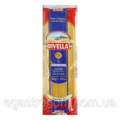 Макарони Дівелла №11 Капеліні Divella Capellini 500g 24/ящ (Код : 00-00004108)