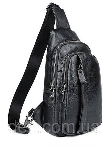 Сумка мужская через плечо Vintage 14974 Черная, Черный, фото 2