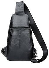 Сумка мужская через плечо Vintage 14974 Черная, Черный, фото 3