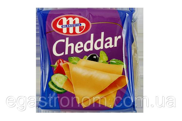 Сир тостовий Млековіта чедер Mlekovita cheddar 130g 12шт/ящ (Код : 00-00005399)