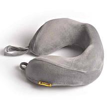 Подушка для путешествий под шею с эффектом памяти Travel Blue Tranquility Pillow серая (212G), фото 2