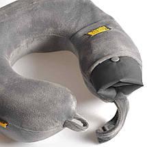 Подушка для путешествий под шею с эффектом памяти Travel Blue Tranquility Pillow серая (212G), фото 3