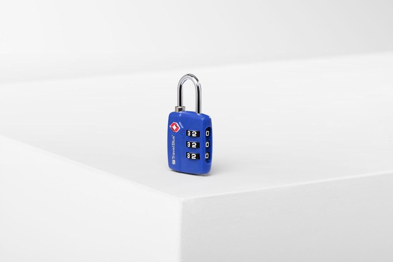 Замок навесной для багажа Travel Blue TSA красный (036B)