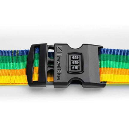 Багажный ремень-крепление на чемодан Travel Blue 3 циферблата разноцветный (047Y), фото 2