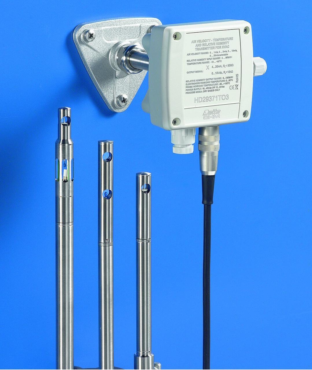 Трансмітери температури, відносної вологості та швидкості повітря серій HD2903T…, HD 29V3T…, HD 2937T…,