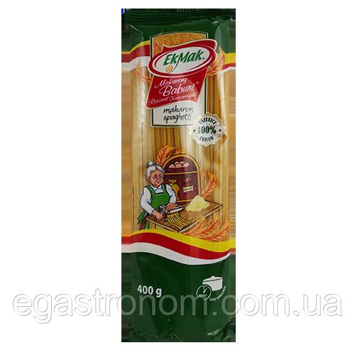 Макарони Екмак (зелена) №09 Спагетті EkMak 400g 28шт/ящ (Код : 00-00003739)