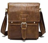 Сумка ретро мужская Vintage 14768 Светло-коричневая, Коричневый