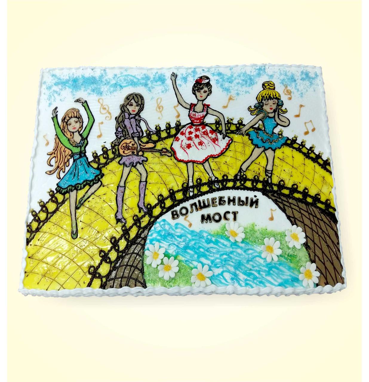 """Детский торт на заказ """"Волшебный мост"""""""