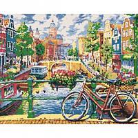 """Набір, картина за номерами """"Амстердам, що зачаровує"""", 40*50 см., SANTI"""