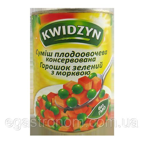 Суміш з горошка і моркви KWIDZYN 400/240g 6шт/ящ (Код : 00-00003045)