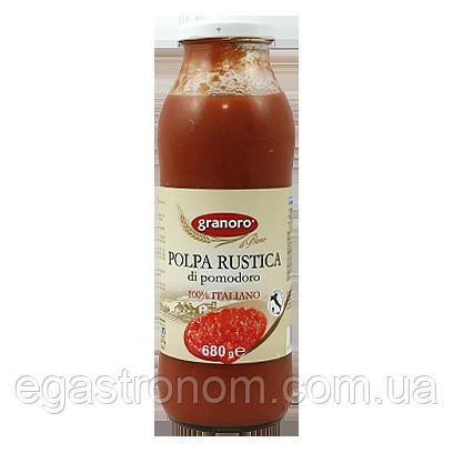 Томатна паста Граноро (шматочки) Granoro rustica polpa 690g 12шт/шт (Код : 00-00004091)