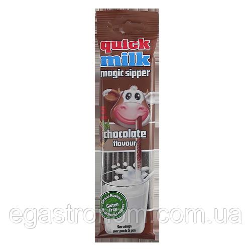 Трубочки для молока Квік Мілк шоколад Quick Milk chocolate 30g 20шт/пач 12шт/ящ (Код : 00-00004742)